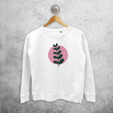 Plant and circle sweater