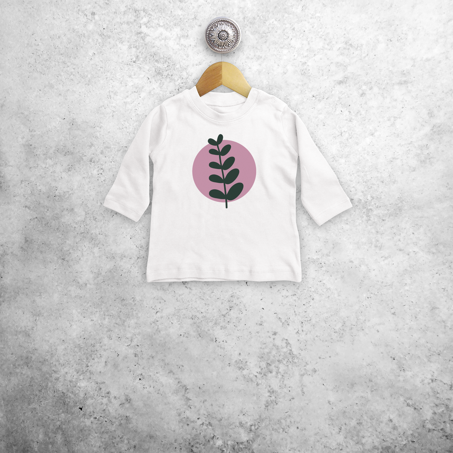 Plant and circle baby longsleeve shirt