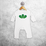 Green leaves baby romper