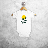 Plant and sun baby shortsleeve bodysuit