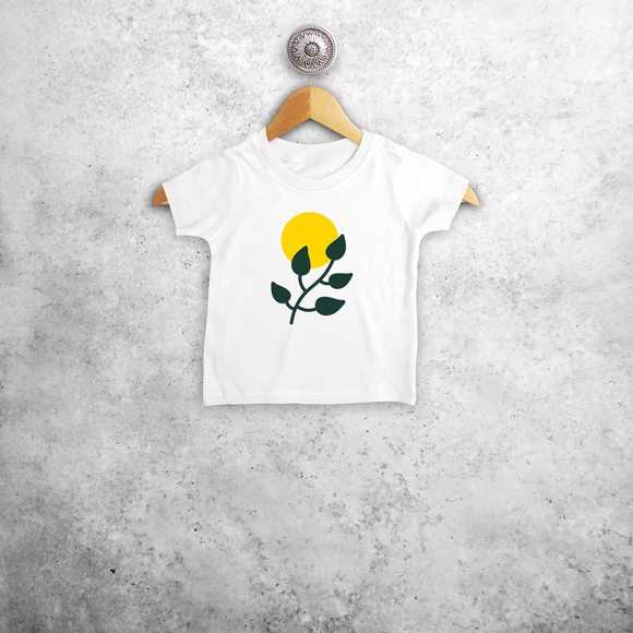 Plant and sun baby shortsleeve shirt