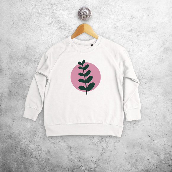 Plant and circle kids sweater