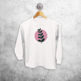 Plant and circle kids longsleeve shirt