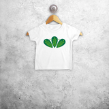 Green leaves baby shortsleeve shirt