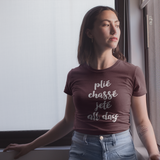 'Plié, Chassé, Jeté all day' adult shirt