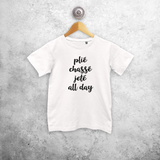 'Plié, chassé, jeté all day' kids shortsleeve shirt