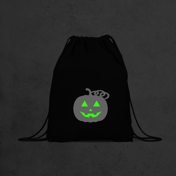 Pumpkin glow in the dark backpack