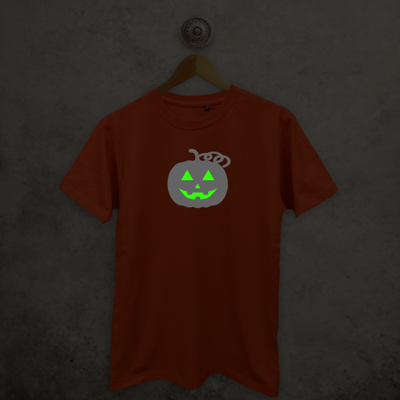 Pumpkin glow in the dark adult shirt