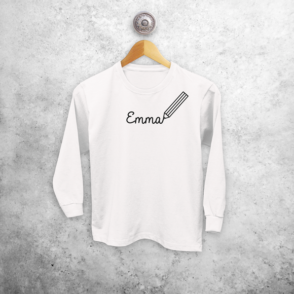 Pencil kids longsleeve shirt