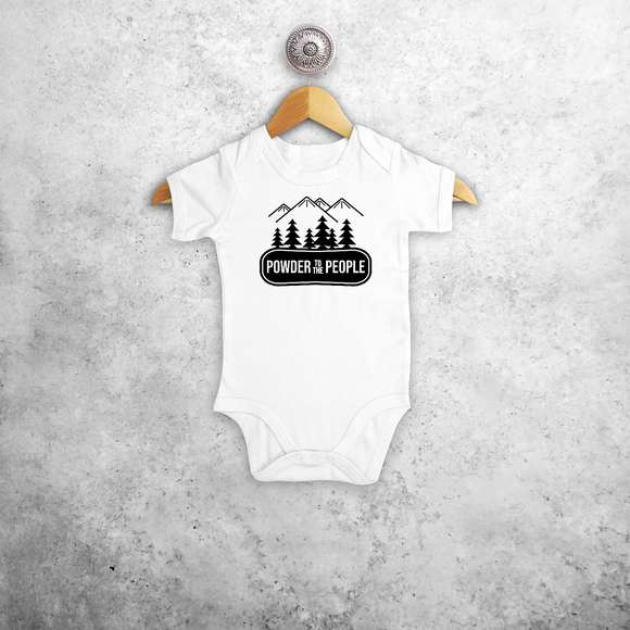 Baby or toddler bodysuit with short sleeves, with 'Powder to the people' print by KMLeon.