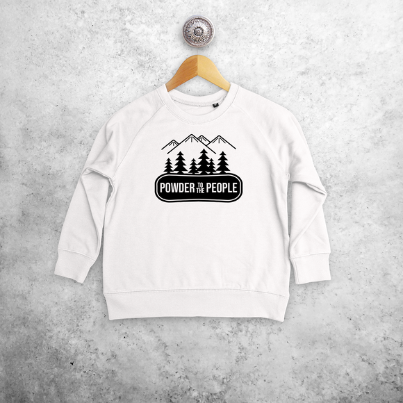 'Powder to the people' kids sweater