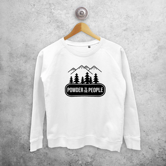 'Powder to the people' sweater