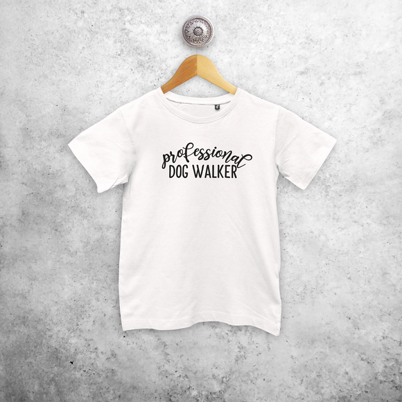 'Professional dog walker' kids shortsleeve shirt