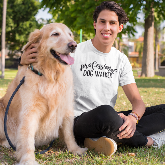 'Professional dog walker' adult shirt