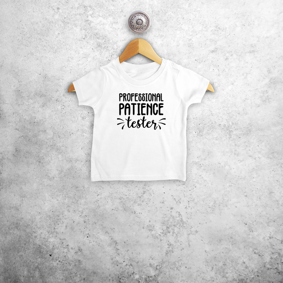 'Professional patience tester' baby shortsleeve shirt