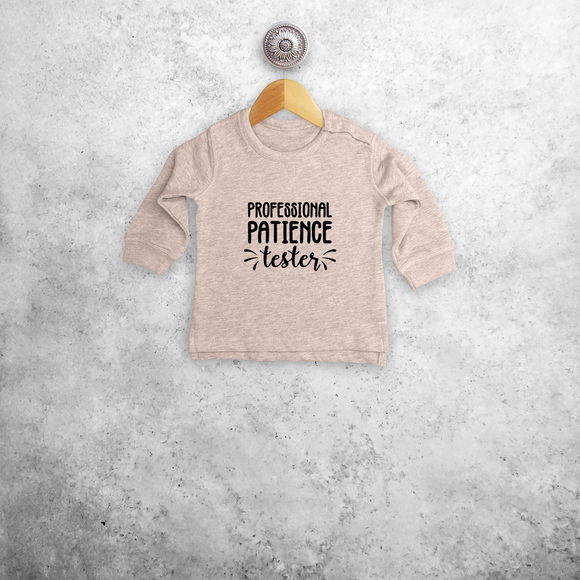 'Professional patience tester' baby sweater