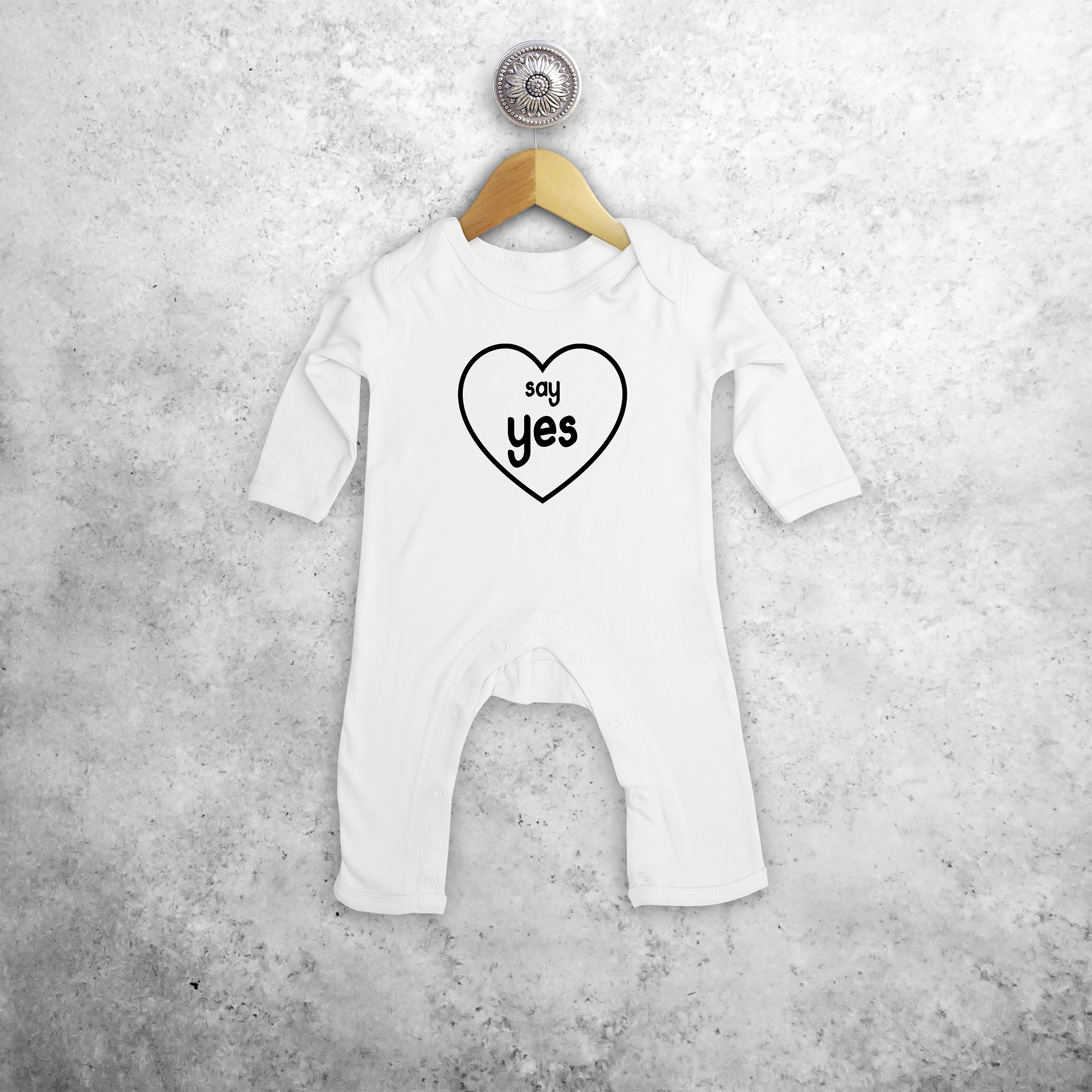'Say yes' baby romper