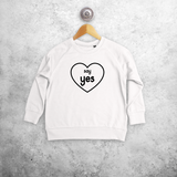 'Say yes' kids sweater