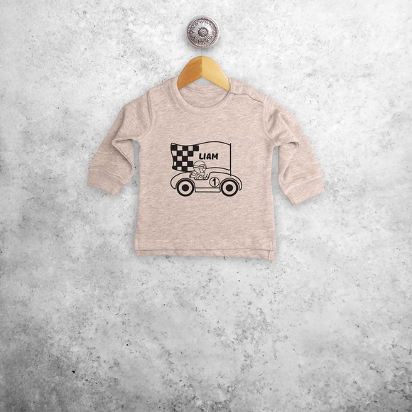Racer baby sweater