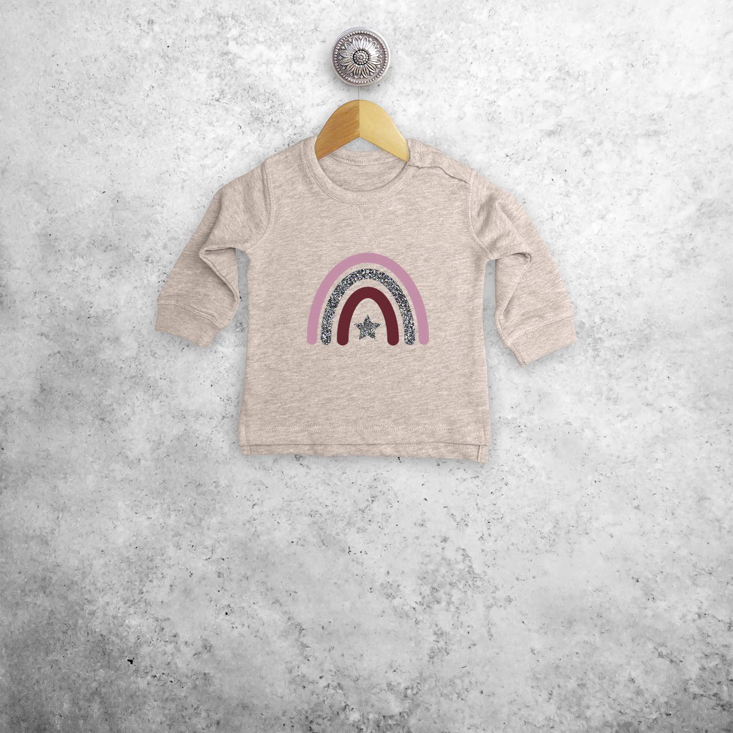 Glitter rainbow baby sweater