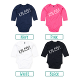 Letter and name baby longsleeve bodysuit