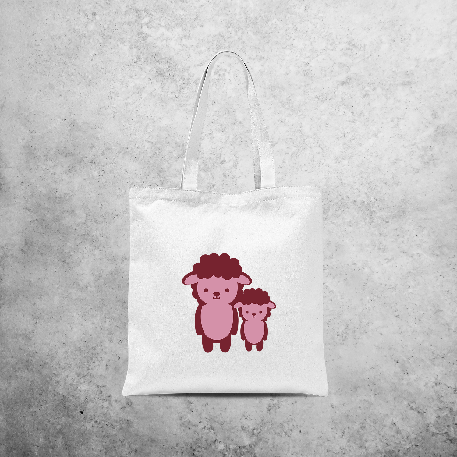 Pink sheep tote bag