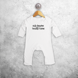 'Rule breaker / Trouble maker' baby romper