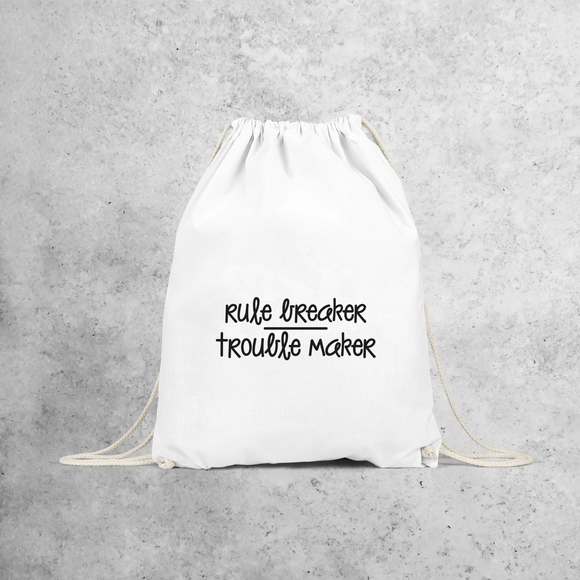 'Rule breaker / Trouble maker' backpack