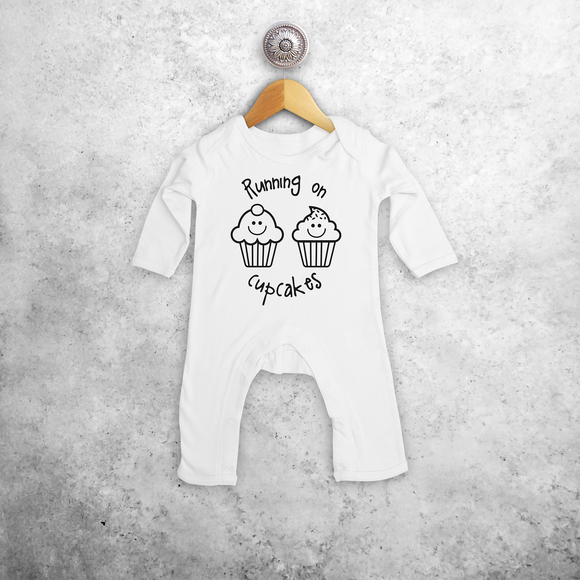 'Running on cupcakes' baby romper