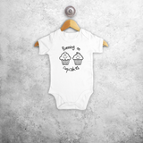 'Running on cupcakes' baby shortsleeve bodysuit