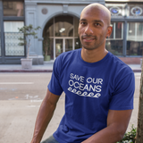 'Save our oceans' adult shirt
