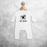 'Say Cheese' baby romper