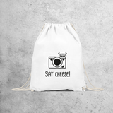 'Say cheese' backpack