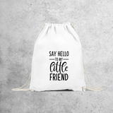 'Say hello to my little friend' backpack