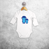 Blue sheep baby longsleeve bodysuit