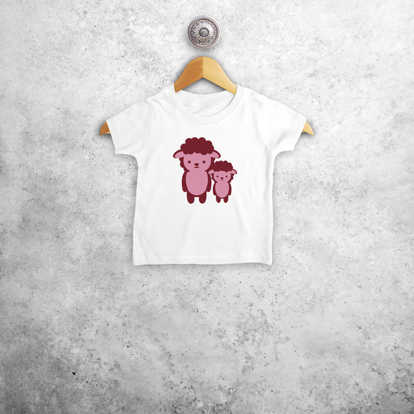 Pink sheep baby shortsleeve shirt