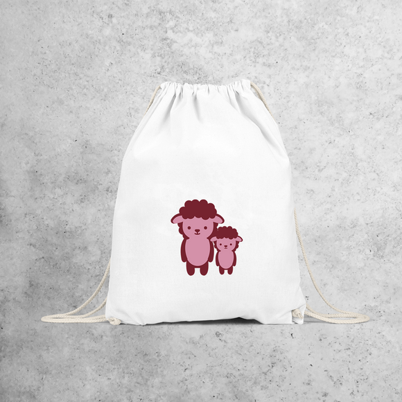 Pink sheep backpack