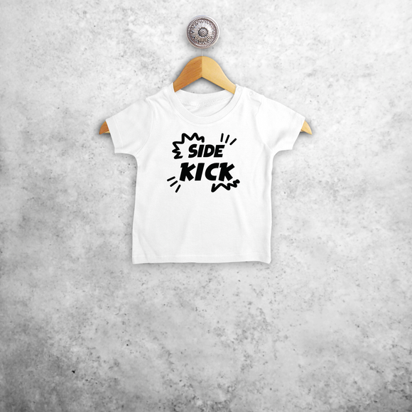 'Side kick' baby shortsleeve shirt