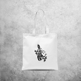 Snake and dagger tote bag