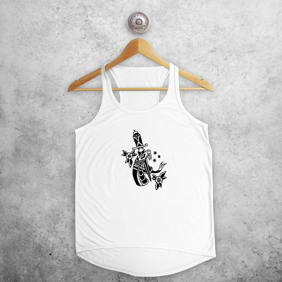 Snake and dagger tank top