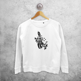 Snake and dagger sweater
