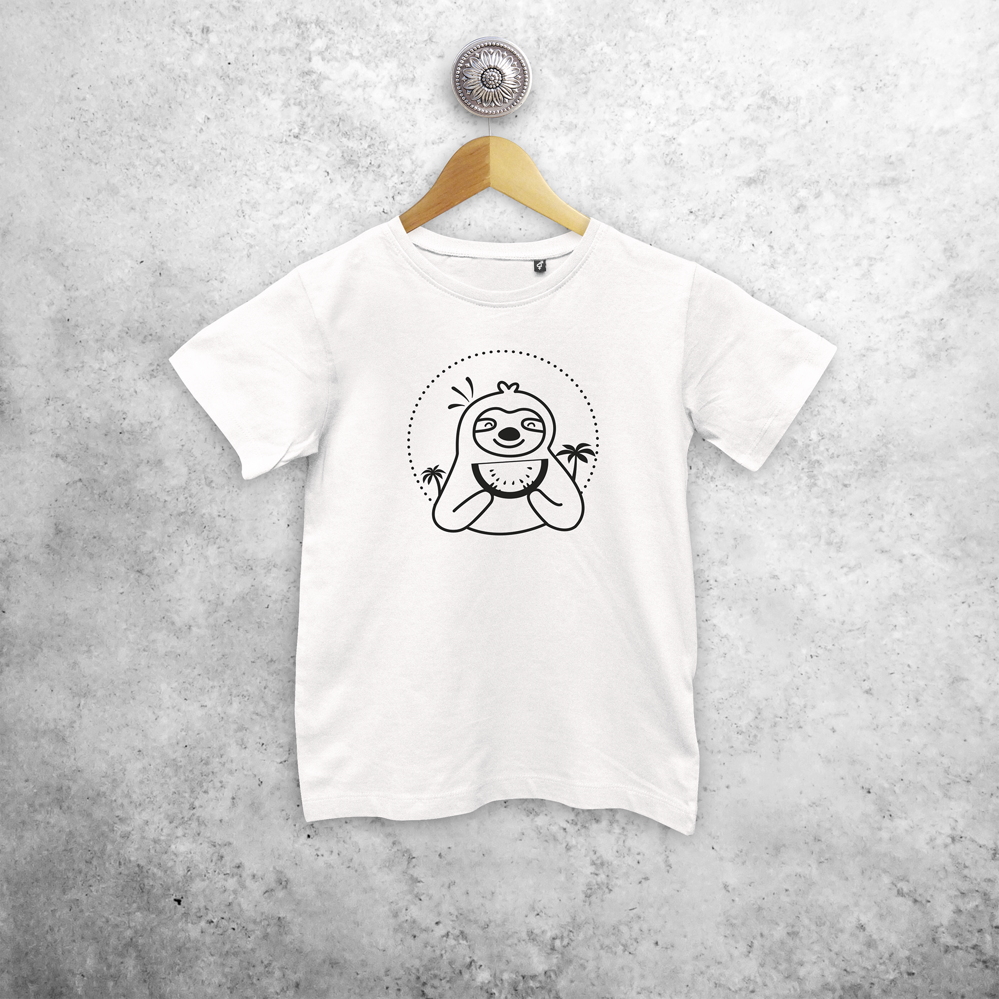 Sloth kids shortsleeve shirt
