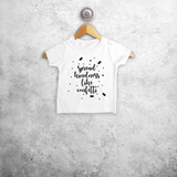 'Spread kindness like confetti' baby shortsleeve shirt