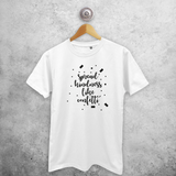 'Spread kindness like confetti' adult shirt