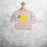 'Squeeze the day' baby sweater