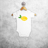 'Squeeze the day' baby shortsleeve bodysuit