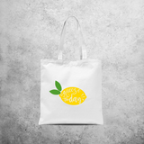 'Squeeze the day' tote bag