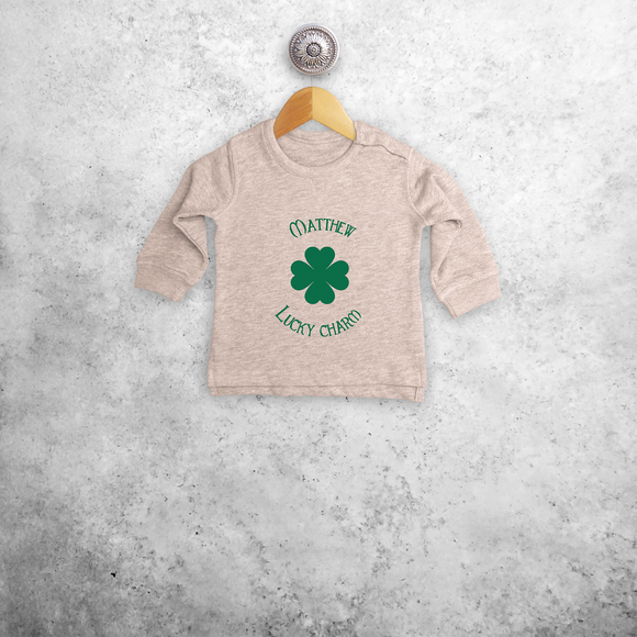 'Lucky charm' baby sweater