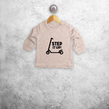 'Step it up' baby sweater