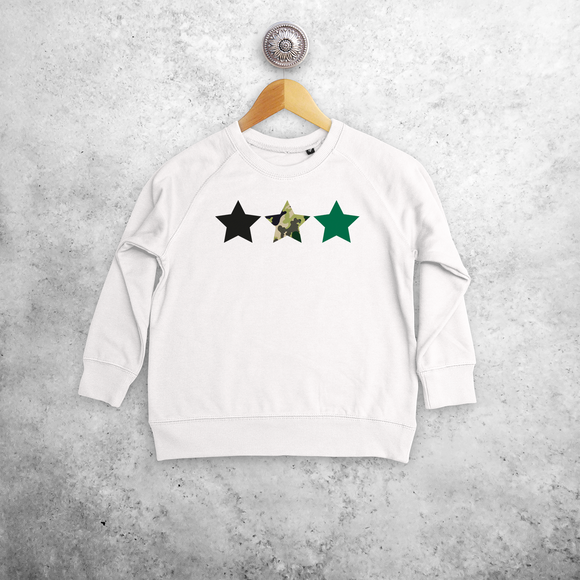 Camouflage stars kids sweater